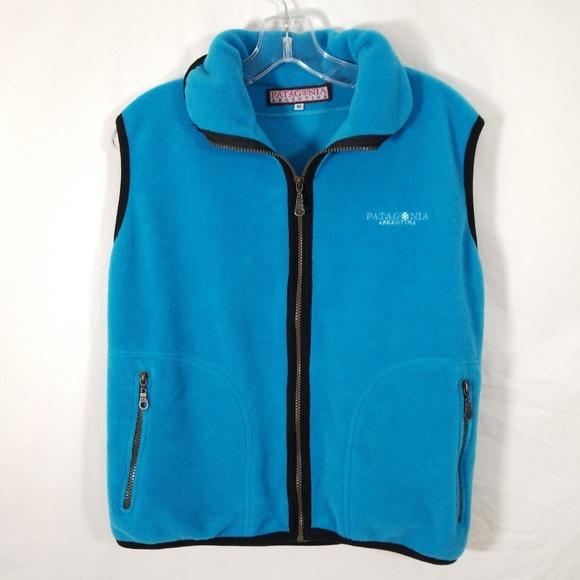 Patagonia Jackets & Blazers - Patagonia Aqua Blue Fleece Vest Argentina M/L
